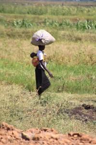 mom in field